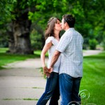 Adam and Sara's loving engagement portraits at Washington Park